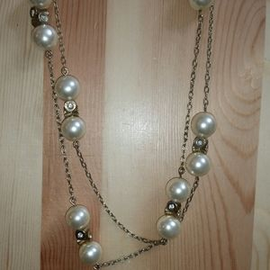 J. Crew Gold Tone/Faux Pearl Necklace
